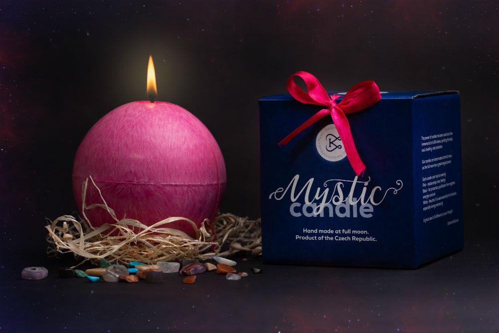Mystic candle - Mystické svíčky - růžová