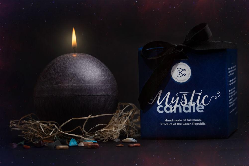Mystic candle - Mystické svíčky - černá