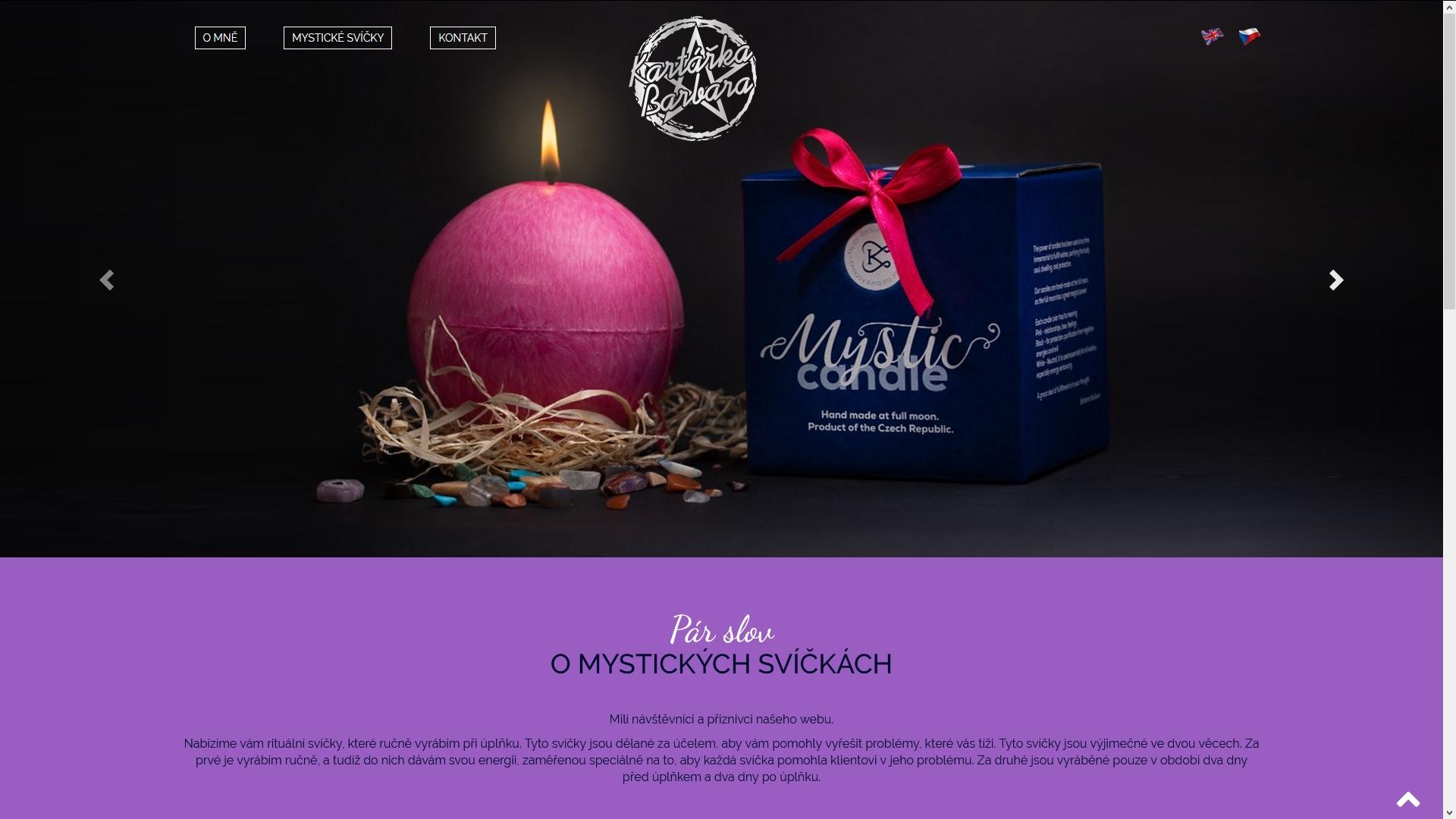 Mystické svíčky - rituální svíčky